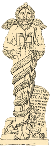 Statue med løvehode fra Mithras-kulten